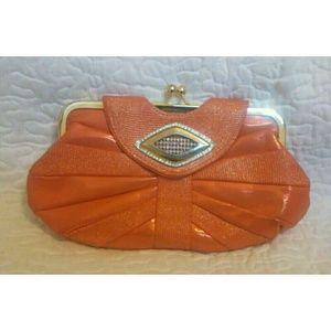 Bags - *SOLD* Orange Clutch Purse